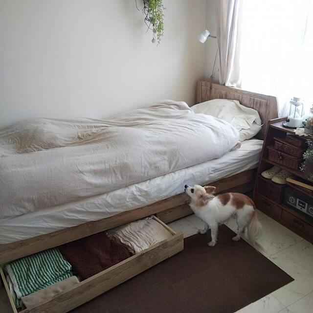 引出し収納ベッド事例