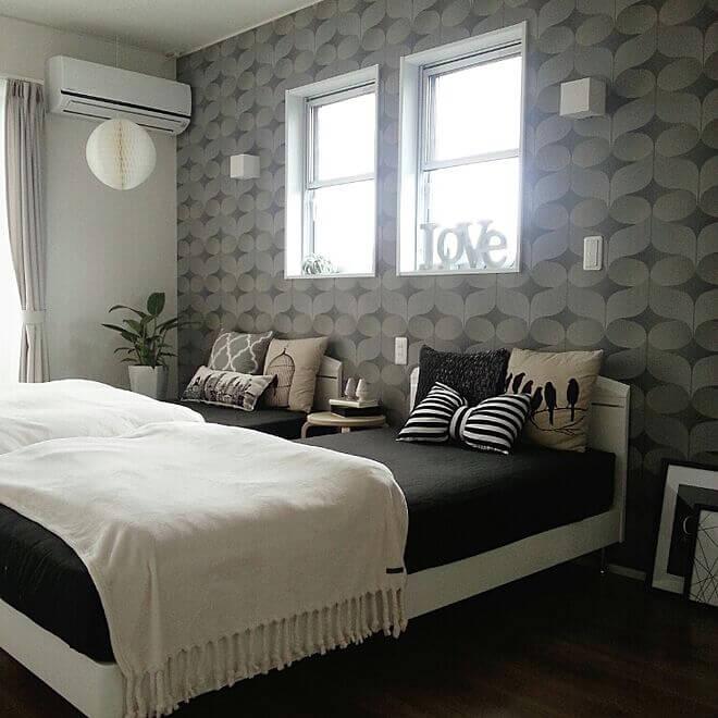 ラグジュアリーモダン寝室の事例