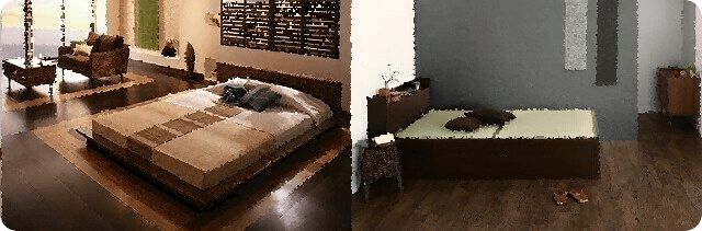 アバカベッドと畳ベッド