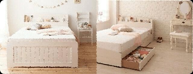 ホワイト系ベッド