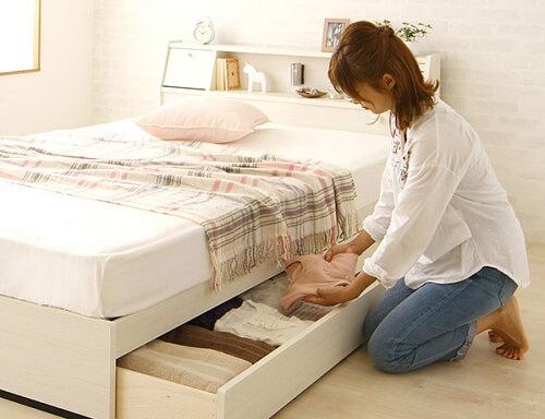 引出し付き収納ベッド