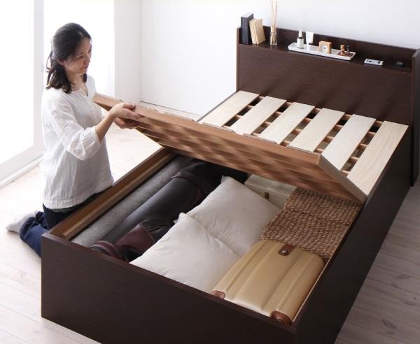 大容量すのこ床板ベッド